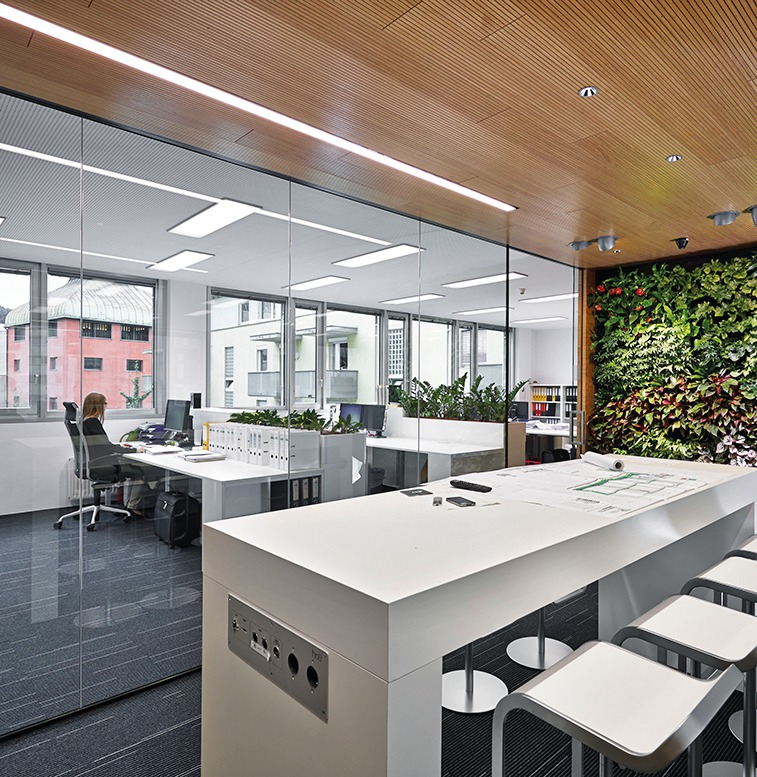 As Well As Optimizing The Use Of Space Per Employee, ATP Places Particular  Emphasis On Health, Well Being And Comfort. Light Colored Furniture  Combined With ...